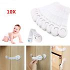 10x Baby Safety Locks Door Kid Child Proof Cabinet Cupboard Drawer Fridge Pet uk