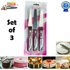 Cake Decorating Spatula Knives Wooden Handle Stainless Steel Smooth Tools Set