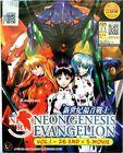 Anime Neon Genesis Evangelion Complete Series + 5 Movies ENGLISH DVD Box Set