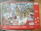 HOP 1000 PIECE JIGSAW  SNOWMAN S VIEW HOUSE OF PUZZLES NEW SEALED