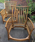 Ercol 3 Piece Suite With No Cushion In Good Condition Lovely Colour Very Sturdy