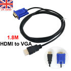 1.8m HDMI to VGA Cables HD-15 D-SUB Video Adapter HDMI Cable For PC HDTV Monitor
