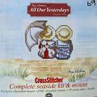 All Our Yesterdays Cross Stitch Card Kit Faye Whittaker Beach Seaside Umbrella