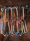 21 Of Vintage Lace Making Bobbins With Beads Spangle(1)