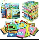 TEYTOY 6 PCS My First Soft Baby Book, Nontoxic Fabric Baby Cloth Books Early