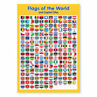A4 Laminated Flags of the World Poster Educational Resource