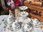 Vintage  Royal Stafford true love tea set with 4 trio s & cake stand