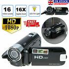 Digital Video Camera Full HD 1080P 32GB 16x Zoom Camcorder DV Camera Black UK