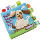 Infant Baby Books Crinkle Soft Cloth Cartoon Animals Early Educational Preschool