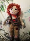 """Vintage Jim Rag Doll from Rosie and & Jim Soft Toy Plush Beanie Toy 1999 10"""""""