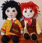"""Rosie and Jim 16"""" Ragdolls by Central TV RARE Vintage 1990s"""