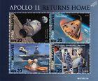 NASA APOLLO 11 50th Anniversary Moon Landing Space Stamp Sheet (2019 Maldives)
