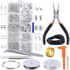 Jewellery Making Findings Kit Wire Pliers Starter Tools Necklace Repair Tool Set