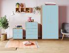 Bedroom Furniture Kids Trio Set Baby Nursery Chest of Drawers Bedside Wardrobe