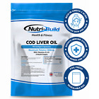 Cod Liver Oil Capsules 1000mg, 90 Capsules, High Strength, Omega 3 Nutri-Build