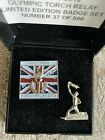 LONDON 2012 OLYMPICS I WAS THERE TORCH RELAY PIN BADGES X 2 IN BOX