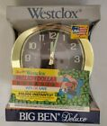 Vintage Westclox Big Ben Deluxe Keywound Wind Up Alarm Clock USA NEW in Box NOS