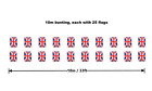 10m/33ft Union Jack Bunting Banner with 25 Rectangular / 20 Triangle Fabric Flag