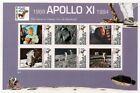 APOLLO XI Moon Landing Aldrin & Armstrong Space Stamp Sheet #1 (1994 Antigua)