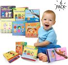 6 Pack Soft Baby Book Early Learning Fun Educational Toy Tearproof Cloth Books