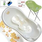 SET LARGE Lux 102cm length Baby Bath Tub with STAND + seat & plug & thermometer