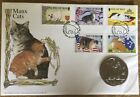 Isle of Man 1996 Manx Cats 1 Crown Coin Cover