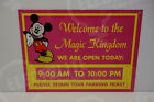 Walt Disney World MAGIC KINGDOM PINK PARKING POLE RETAIN TICKETS STEEL SIGN