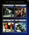 APOLLO 9 & 17 Astronauts / Moon Landing / NASA Space Stamp Sheet (2015 Solomons)