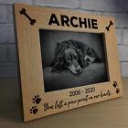 Personalised Pet Photo Frame Wooden Gift Dog Puppy Handmade Keepsake Memorial