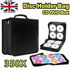 350 Discs Portable CD DVD Wallet Holder Bag Case Album Organizer Storage Box