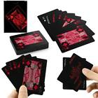 High PVC Plastic Poker Waterproof Magic Playing Cards Table Game Black & Red