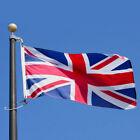 5X3FT Union Jack Large Flag Brass Eyelets Double Stitch Edge UK Great Britain