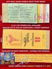 1977 A B C D E Tickets WALT DISNEY WORLD Adult Ticket Book AUTHENTIC! MINT!   Y2