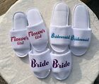 Personalised Slippers Great for the morning of your Wedding Day, Hen Party, Spa