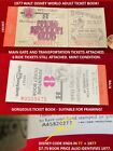 1977 WALT DISNEY WORLD Ticket Book w/ MAIN GATE ADMISSION Missing 2 Tickets.  Q6
