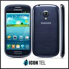 Samsung Galaxy S3 Mini GT-I8190 8GB Unlocked White Blue Smartphone | GRADE GOOD