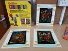 Vintage (70s?) LETRASET DISNEY Stained Glass Window effect kit (but on Plastic)