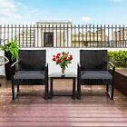 3 Piece Garden Furniture Sets Rattan Patio Bistro Sets Outdoor Wicker Chairs