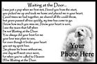 Personalised Dog Memorial Waiting at the Door pet photo keepsake sympathy gift