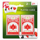 2Pack Playing Cards Traditional Plastic Coated Poker Size Deck Professional Game