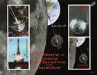 LUNA 2 Russian Spacecraft 1959 Moon Landing Space Stamp Sheet (2008 St Vincent)
