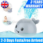 Whale Induction Water Spray Ball LED Sprinkler + Base Kids Gift Baby Bath Toys