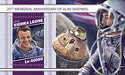 ALAN SHEPARD NASA Apollo 14 Astronaut Moon Landing Stamp Sheet 2018 Sierra Leone