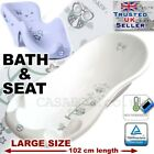 SET LARGE 102cm Baby Bath Tub with thermomether+ SEAT chair WHITE &GREY
