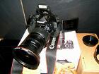 Canon EOS 600D 18.0MP Digital SLR Camera - Black with THREE LENSES