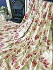 STUNNING Laura Ashley  Gosford Cranberry Cotton  Lined Curtains