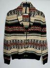 TELLURIDE CLOTHING VINTAGE WOMENS CARDIGAN JACKET  M/L BEIGE BLACK RED WOOL 574