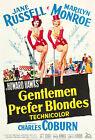 Gentlemen Prefer Blondes Marilyn Monroe Vintage Print Poster Wall Picture A4 +