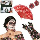 Ladies Day Of The Dead Fancy Dress Costume Accessories Mexican Halloween Outfit