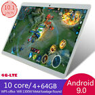 "10.1"" 2.5d FHD 4G-LTE WIFI Tablet PC Android 9.0 4+64GB GPS Dual SIM Camera UK"
